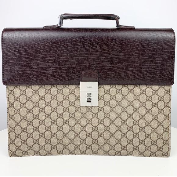 GUCCI Supreme Canvas/Leather Briefcase